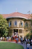 The Vimanmek Mansion is a former royal palace and is also known as the Vimanmek Teak Mansion or Vimanmek Palace.<br/><br/>  Vimanmek Mansion was built in 1900 by King Rama V (King Chulalongkorn) by having the Munthatu Rattanaroj Residence in Chuthathuj Rachathan at Ko Sichang, Chonburi, dismantled and reassembled in Dusit Garden. It was completed on March 27, 1901 and used as a royal palace by King Rama V for five years.<br/><br/>  In 1982 Queen Sirikit asked permission of King Rama IX (Bhumibol Adulyadej) to renovate Vimanmek Palace for use as a museum to commemorate King Rama V by displaying his photographs, personal art and handicrafts. The palace is the world's largest golden teakwood mansion.